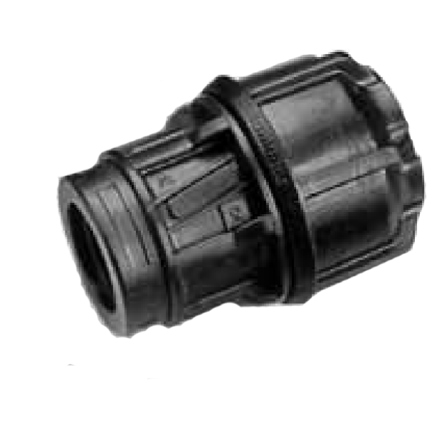 "Philmac Metric/Imperial End Connector POL x FI 20mm/1/2"" x 3/4"""