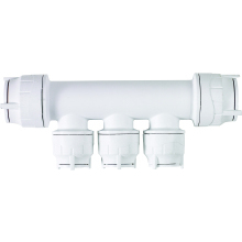 PolyFit 22mm x 10mm 2 Port Double Sided Manifold Socket/Socket White