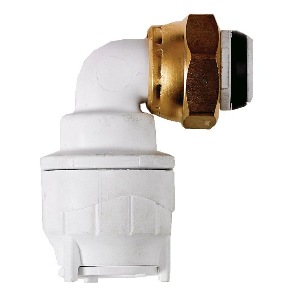 PolyFit 15mm x 1/2inch Bent Tap Connector White
