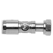 PolyFit 15mm x 1/2inch Chrome Plated Brass Service Valve With Tap Connector