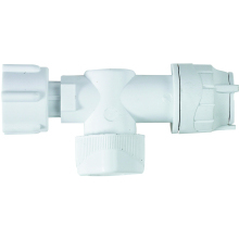 PolyFit 15mm x 1/2inch Straight Service Valve White