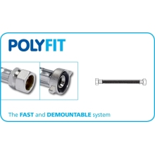PolyFit 15mm x 1/2inch x 500mm Compression Flexible Hose Tap Connector