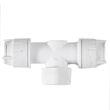 PolyFit 15mm x 15mm Shut Off Valve White