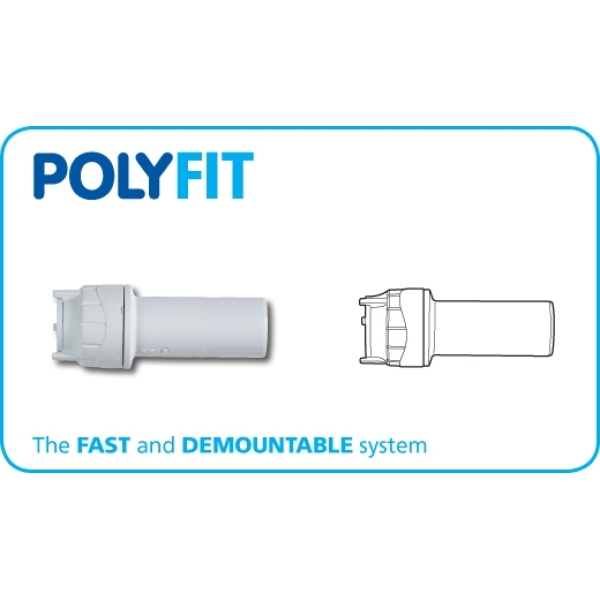 PolyFit 28mm x 22mm Socket Reducer White