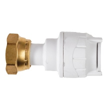 PolyFit 15mm x 1/2inch Straight Tap Connector White