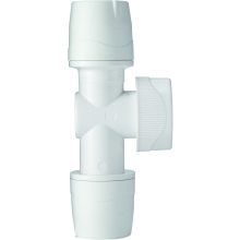 PolyMax 15mm x 15mm Shut Off Valve White