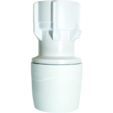 PolyMax 15mm x 1/2inch Hand Tighten Tap Connector White