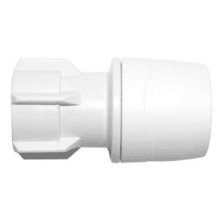 PolyMax 10mm x 1/2inch Hand Tighten Tap Connector White