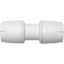 PolyMax 15mm Straight Coupler - White