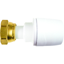 PolyMax 15mm x 3/4inch Straight Tap Connector White