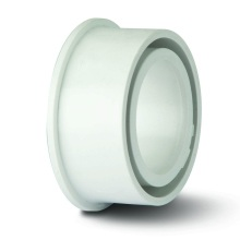 Polypipe Ring Seal Soil Solvent Boss Adaptor for 32mm Waste Pipe White