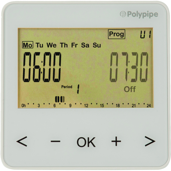Polypipe 4 Zone Time Clock  RF