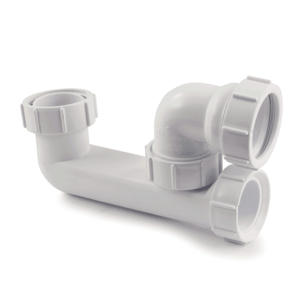 Polypipe 40mm Low Level Bath Trap 50mm Seal