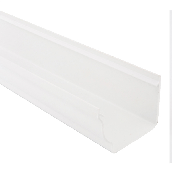 Polypipe 4m x 117mm Sov Gutter White
