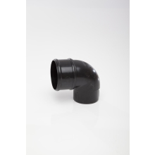 POLYPIPE 68mm x 92.5 Deg Downpipe Offset Bend Black