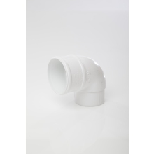 POLYPIPE 68mm x 92.5 Deg Downpipe Offset Bend White