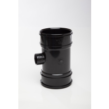 Polypipe Boss Pipe Double Socket 110mm x 32mm Black