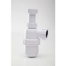 Polypipe Bottle Trap Anti Syphon Adjustable Telescopic White 32mm