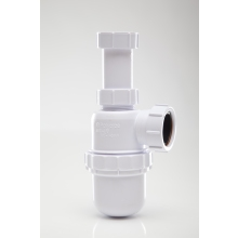 Polypipe Bottle Trap Anti Syphon Adjustable Telescopic White 40mm