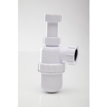 Polypipe Bottle Trap Anti Syphon Adjustable Telescopic White