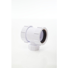 Polypipe Compression Waste Coupler Adaptor 40mm White