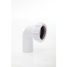 Polypipe Compression Waste Swivel Elbow 40mm x 90 Degrees White
