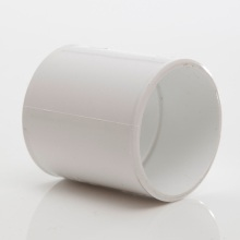 Polypipe Solvent Weld Waste MUPVC Straight Coupling 50mm White