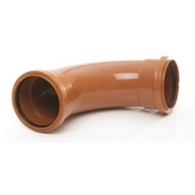 "Polypipe Drain Bend Double Socket 4"" 11 Degrees"