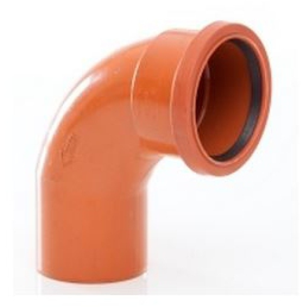 "Polypipe Drain Bend Single Socket 4"" 87 1/2 Degrees"