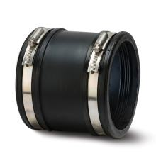 Polypipe Flexicon Universal Drain Coupler 100mm-115mm Black