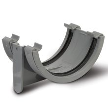 Polypipe Half Round Gutter Union Bracket 112mm Grey