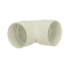 Polypipe Solvent Weld Waste ABS Knucklebend 40mm x 90 Degrees White