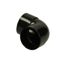 Polypipe Solvent Weld Waste MUPVC Knucklebend 40mm x 90 Degrees Black