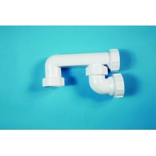 Polypipe Low Level Bath Trap 40mm Seal White