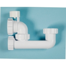 Polypipe Low Level Bath Trap 40mm x 38mm Anti - Syphon White