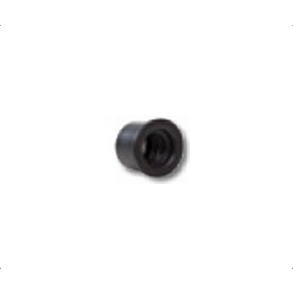 Polypipe Overflow Waste Rubber Reducer 32mm to 21.5mm Black