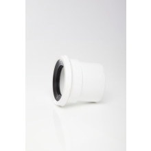 Polypipe Pan Connector 110mm Straight Spigot Solvent Weld White