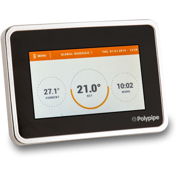 Polypipe Premium TFT Thermostat Black