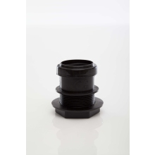 Polypipe Pushfit Waste Tank Connector 40mm Black