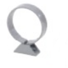 Polypipe Ring Seal Soil Pipe Clip 82mm Grey
