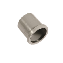 Polypipe Ring Seal Soil Single Socket Coupler 82mm Grey