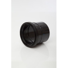 Polypipe Ring Seal Soil Single Socket Coupler 110mm Brown
