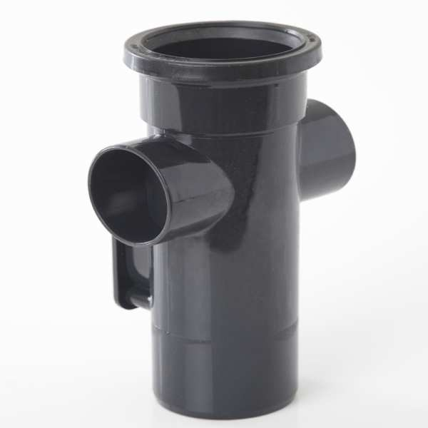 Polypipe Ring Seal Soil Single Socket Access Pipe 82mm Black