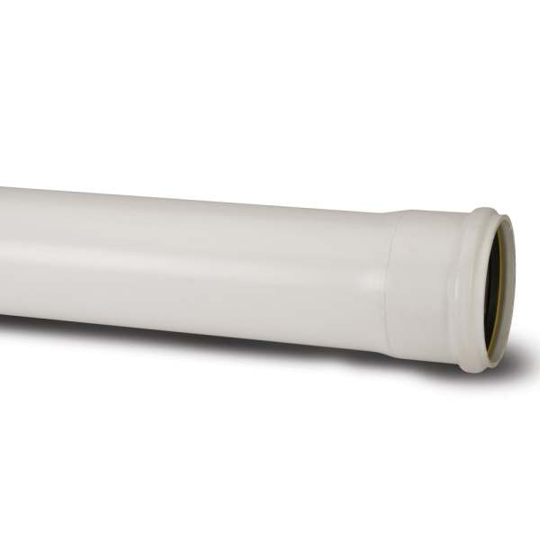 Polypipe Ring Seal Soil Single Socket Pipe 110mm x 4m White
