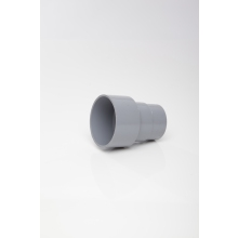 Polypipe Round Downpipe 68mm to Cast Iron Adaptor Grey