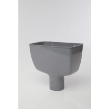 Polypipe Round Downpipe Standard Hopper Head 68mm Grey