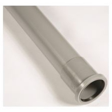 "Polypipe Single Socket 4"" Soil Pipe 2m Grey"