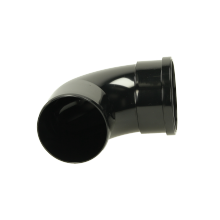 Polypipe Single Socket Soil Bend 110mm x 92.5 Degrees Black