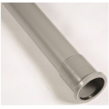 "Polypipe Single Socket Soil Pipe 3"" 3m Grey"