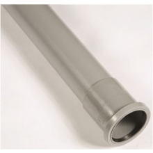 "Polypipe Single Socket Soil Pipe 4""/110mm 2.5m Grey"